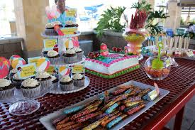 birthday table decorations at home image inspiration of cake and
