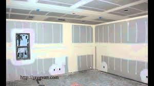why do they install a middle section of drywall in walls taller