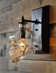 Lantern Wall Sconce Crystal Head Vodka Skull Wall Sconce Dudeiwantthat Com