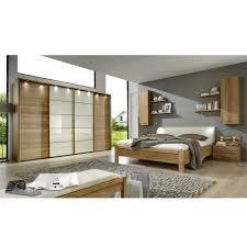 Schlafzimmer Massivholz Schlafzimmer Set Waruna In Creme Mit Eiche Massivholz