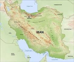 map iran iran physical map