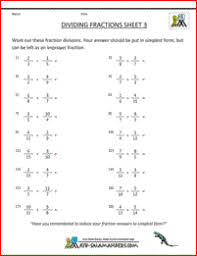worksheets on dividing fractions how to divide fractions