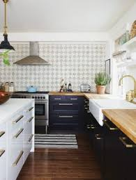 beautifully colorful painted kitchen cabinets countertops