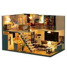 Sweet Coffee Shop France Style Diy Doll House 3d Miniature Dollhouse Miniatures Ebay