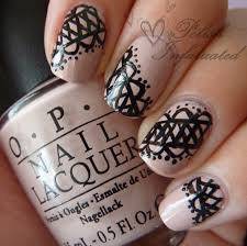 some freehand lace nails polish infatuated