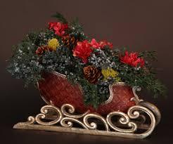 winters wow sleigh preserved centerpiece