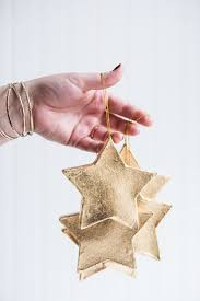 diy gold leaf ornaments easy and unique diy tree