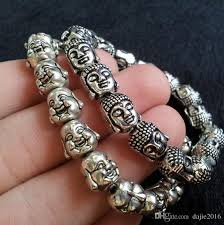 stainless silver bracelet images 2018 40g aaa unique tibetan silver stainless steel buddha head jpg