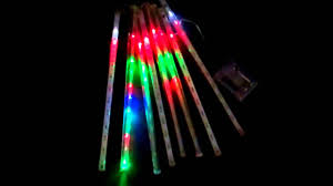 shopwildthings led meteor light color changing battery
