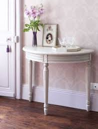 white half moon table shabby chic white half moon console table with drawers baby room