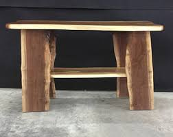 Walnut Sofa Table by Live Edge Walnut Sofa Table