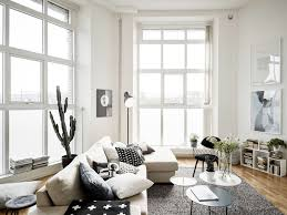 Decorate Large Living Room by Amazing Black And White Large Scandinavian Living Room With Ivory