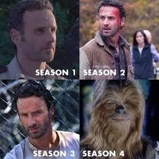 Walking Dead Memes Season 1 - the walking dead chewbacca memes of the walking dead the