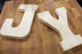 paper covered wood letters the everyday home