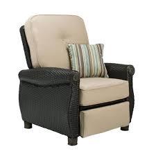 Cushions For Reclining Garden Chairs La Z Boy Breckenridge Wicker Outdoor Recliner With Sunbrella
