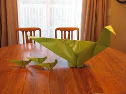 almost unschoolers summer fun day 34 dinosaur sized origami