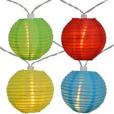 led lantern string lights led solar powered multi colored nylon lantern string lights solar