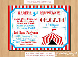 birthday party rsvp circus themed party circus birthday invitation ticket