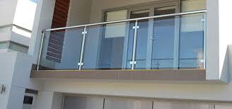 long glass balcony railing u2014 railing stairs and kitchen design