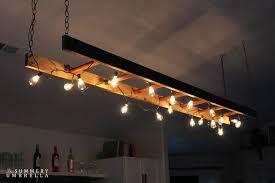 diy kitchen lighting diy ladder light and retro decor light fixture ideas for kitchen