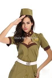 Spy Halloween Costumes Aliexpress Buy Halloween Costume Female Army Green Armed