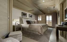 chambre style chalet design interieur chambre coucher luxe style chalet moderne couleurs