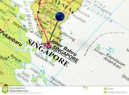 Singapore Map World by Map Of Singapore Stock Photos Image 25678933