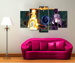 Art For Living Room 5 Panel Modern Painting And Prints Anime Naruto Japanese Picture