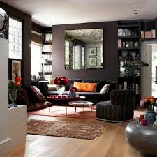 Natural Color Earth Colors  In Brown Living Room Interior - Earth colors for living rooms
