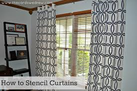 diy stenciled curtains u0026 royal design giveaway the cards we drew