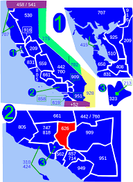 San Gabriel Map Area Code 626 Wikipedia