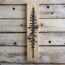 Home Decor Wall Signs by Sitka Tree Sign Trees Woodsy Home Decor Nature Cedar Woodland