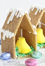 easter peep graham cracker house grateful prayer thankful heart