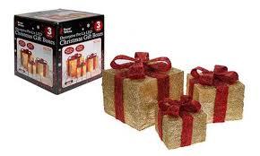 60 light up sisal gift boxes groupon