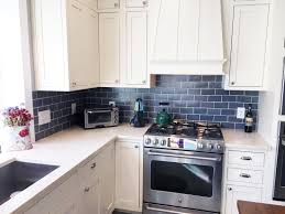 blue kitchen backsplash blue and copper subway tile kitchen tile subway