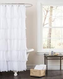 Cynthia Rowley Ruffle Shower Curtain Gathered Ruffle Trim Shower Curtain Products Bookmarks Design