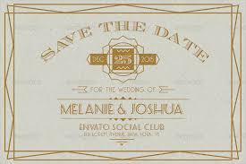 25 art deco wedding invitations free u0026 premium download