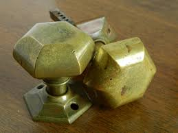 Exterior Door Knobs Hexagon Entry Door Knobs Hexagonal Brass Knobs Exterior