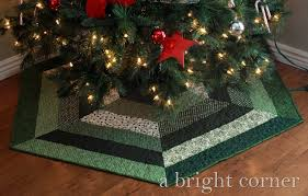 a bright corner quilted tree skirts