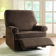 Rocking Recliner Chair For Nursery Ella Brown Fabric Nursery Swivel Glider Recliner Chair Free
