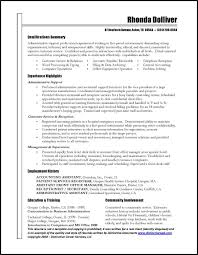 Examples Of Free Resumes by Great Administrative Assistant Resumes Administrative Assistant