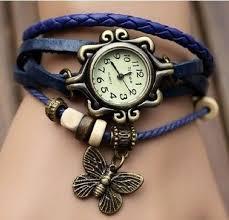 girls bracelet watches images Buy women bracelet watch vintage girls cute butterfly leather jpg