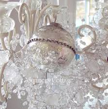 mercury glass ornaments shiny rhinestone silver tree