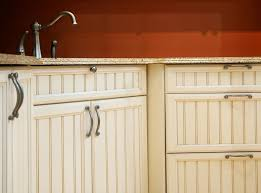 How To Clean Kitchen Cabinet Doors Kitchen Beadboard Kitchen Cabinet Door With Metal Handle And Knob