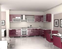 interior decoration pictures kitchen sweet purple mitchen interior design with white floor tile ideas