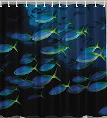 Hawaiian Curtain Fabric Fish Shower Curtains Shower Curtains Outlet