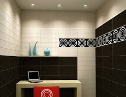 decorative accents for internet cafe with red and natural colors