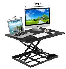 Sit Down Stand Up Desk by Defiance Pro 32 U0027 Height Adjustable Standing Desk Converter