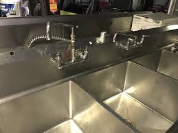 Used Faucets Used Used 3 Three Compartment Sink With Right Drainboard U0026 2