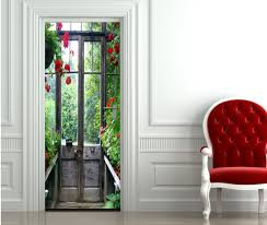 sticker porte cuisine sticker porte le jardin 204 x 73 cm made in aix en provence